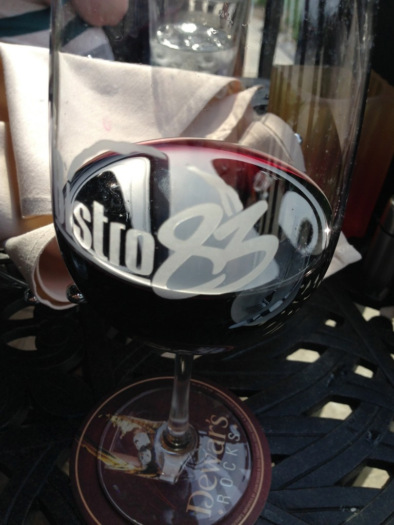 Wine glasses at Bistro83 come in only one size and shape—indicative that this wine bar doesn't know its wine.