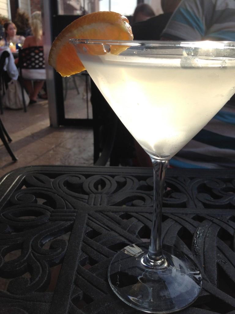 The most inventive cocktail on the menu, a lavender martini.